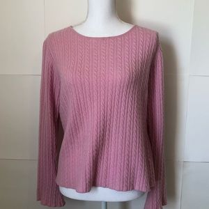 Anthropologie One Girl Who 100% cashmere sweater